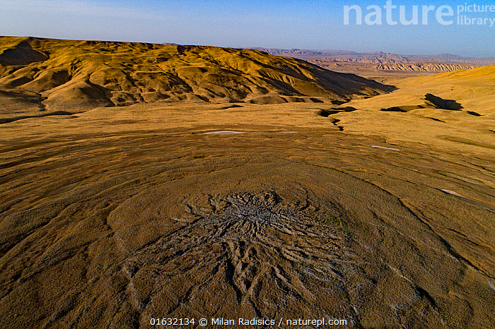 Mud Volcanoes of Azerbaijan  ,  Pattern,Asia,Central Asia,Azerbaijan,Aerial View,High Angle View,Volcano,Mud,Muddy,Geology,Volcanic features,Interesting,Elevated view,Drone,Drone shot,  ,  Milan Radisics