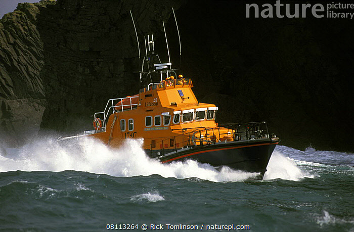 Nature Picture Library - Severn Class Lifeboat at Valentia
