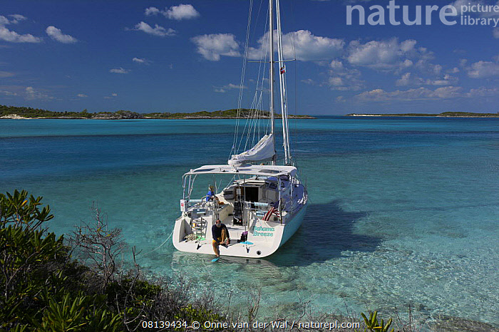 Nature Picture Library - Man putting on fins on board a Shannon