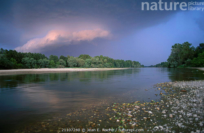 Allier river with rain clouds Aubigny Vee France  ,  STORMS,RIVERS,WEATHER,LANDSCAPES,Europe  ,  Jean E. Roche