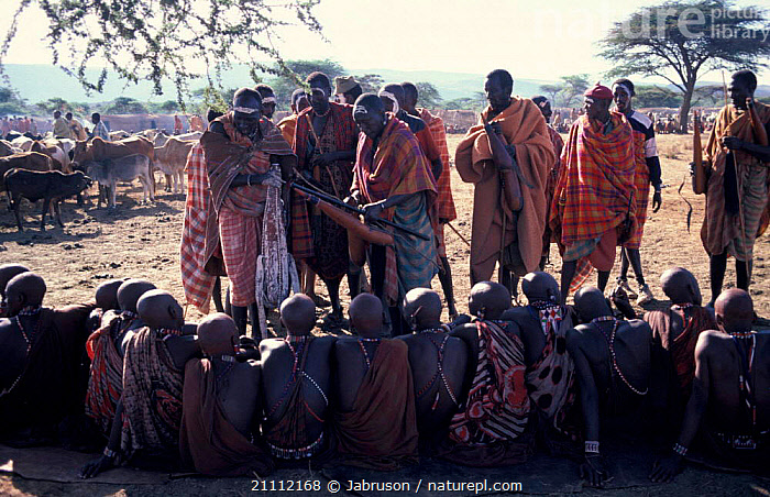 Masai eunoto ceremony junior elders receive blessing as milk from gourd Kenya  ,  TRADITIONAL,LANDSCAPES,TRIBES,PEOPLE,Africa,EAST-AFRICA , Bruce Davidson  ,  Jabruson