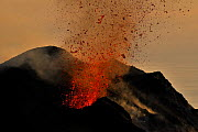 Lava erupting from Stromboli, Aeolian Islands, Italy, May 2009 - Wild Wonders of Europe / Grunewald