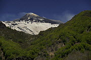 Eastern side of Mount Etna Volcano with snow, Sicily, Italy, May 2009 - Wild Wonders of Europe / Grunewald