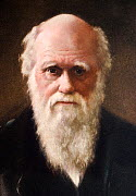 1881 portrait of Charles Robert Darwin (12 February 1809 - 19 April 1882) English Naturalist and author of the Origin of Species. 1922 Hand coloured portrait aquatint of Darwin by G. Sidney Hunt after...  -  Paul D Stewart