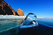 Transparent ice formation on Lake Baikal, Siberia, Russia, March 2012. - Olga Kamenskaya