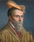 Portrait of Pierre Belon (1517�1564) renaissance French explorer, naturalist, writer and diplomat. He worked on a range of topics including ichthyology, ornithology, botany, comparative anatomy, archi... - Paul  D Stewart