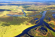 Aerial view of Bangweulu Marshes, Zambia, April 2006. - Sylvain Cordier