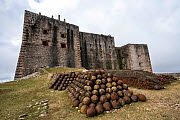 View of La Citadelle from the backyard with pile of cannon balls UNESCO World Heritage Site, Haiti, August 2016.  -  Eladio Fernandez