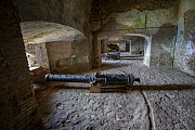 Row of cannons in La Citadelle fortress, UNESCO World Heritage Site, Haiti. August 2016.  -  Eladio Fernandez