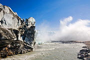 The Russells Glacier and pool of meltwater at terminus, Kangerlussuaq, Greenland, July. - Ashley Cooper