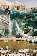 Collasing ice from the Russells Glacier, Kangerlussuaq, Greenland. July 2008. - Ashley Cooper