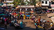 Timelapse of a busy street and market, Udaipur, Rajasthan, India, January 2018. (This image may be licensed either as rights managed or royalty free.) - Gavin Hellier